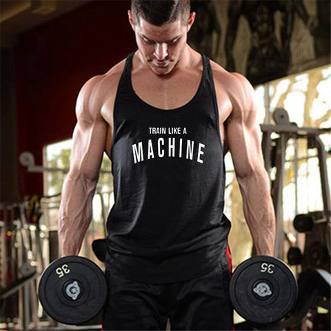 New Mens gyms stringer tank top fitness clothing canotta bodybuilding shirt muscle tank singlet cotton workout Sleeveless tshirt