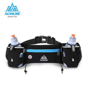 AONIJIE Running Waist Pack Outdoor Sports Hiking Racing Gym Fitness Lightweight Hydration Belt Water Bottle Hip Bag