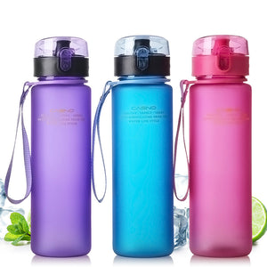 400ML500ML Sport Water Bottle Spray Bottle Space Leak Proof Moisturizing Cycling Sports Gym Drinking Bottles Outdoor Tools LJ108