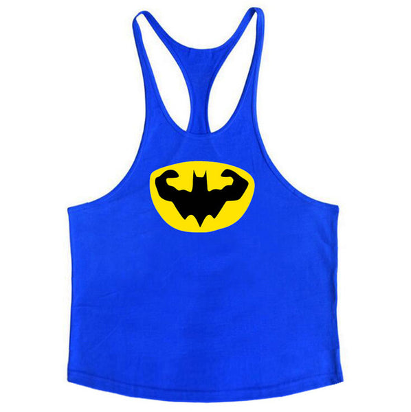 Brand Clothing Batman Bodybuilding Stringer Tank Top Mens Fitness Singlets Cotton Sleeveless shirt Workout Sportwear Undershirt