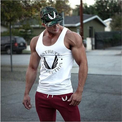 EEHCM 2016 Singlets Mens Tank Tops Shirt,Bodybuilding Equipment Fitness Men's Golds Stringer Tank Top Brand Clothes