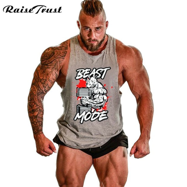 New 2018 fashion cotton  sleeveless shirts tank top men Fitness shirt mens singlet  Bodybuilding Plus size gymvest fitness men
