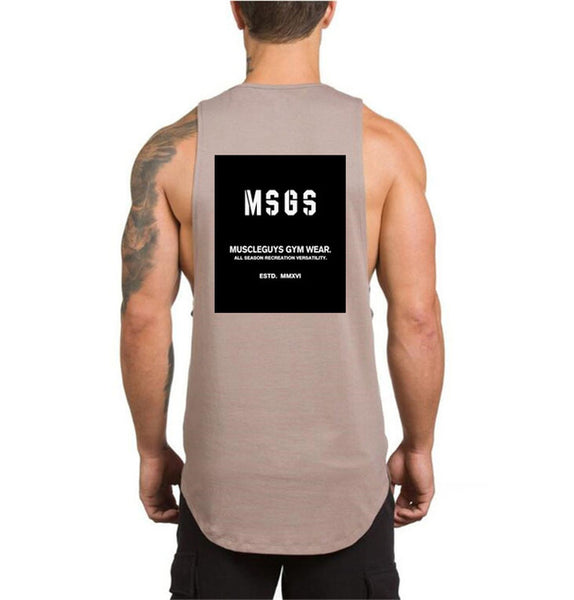 Brand NO PAIN NO GAIN clothing bodybuilding stringer gyms tank top men fitness singlet cotton sleeveless shirt muscle vest