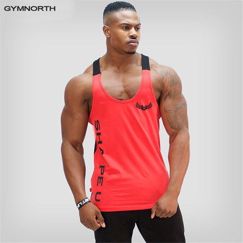 GYMNORTH Men's Body Slimming Compression Sleeveless Tight T Shirt Fitness Moisture Wicking Workout Vest Muscle Tank Top