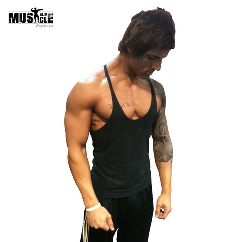 2018 Summer Bodybuilding Tank Top Men's T-shirt Brand Clothing Fitness Singlet Sleeveless Cotton Workout Stringer Regatas Casual