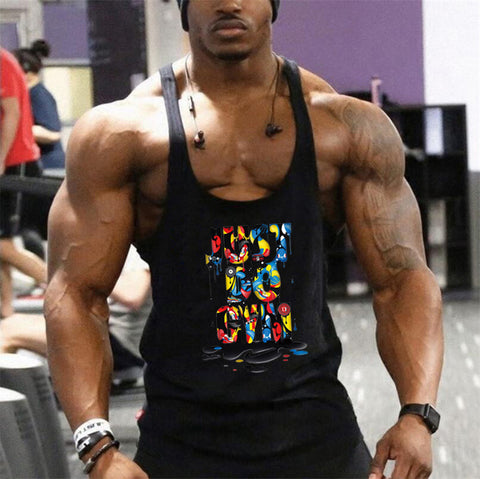 Brand bodybuilding fitness clothing gyms stringer tank top men musculation gold vest men undershirt solid Muscle tank blank Tops