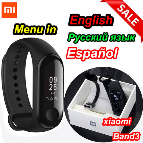 Xiaomi Mi Band 3 Smart Wristband Fitness Bracelet MiBand Big Touch Screen OLED Message Heart Rate Time Smartband