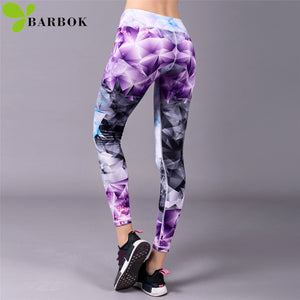 BARBOK women yoga leggings yoga pants leggins women fitness sport Gym Leggings soft flexible running exercise Workout Clothing