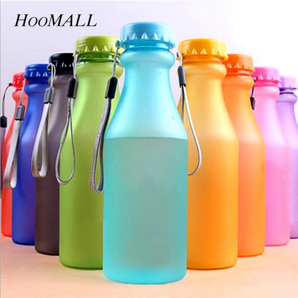 Hoomall Unbreakable Plastic Sport Bottles 550ml Portable Leak-Proof Water Bottles Yoga Gym Climbing Fitness Drinking Accessories