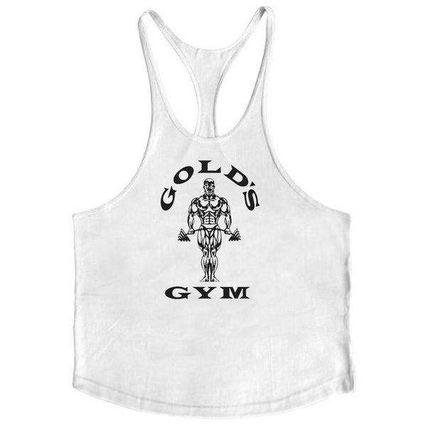 Brand bodybuilding stringer tank top men musculation golds vest gyms clothing and fitness men undershirt solid tank blank shirt