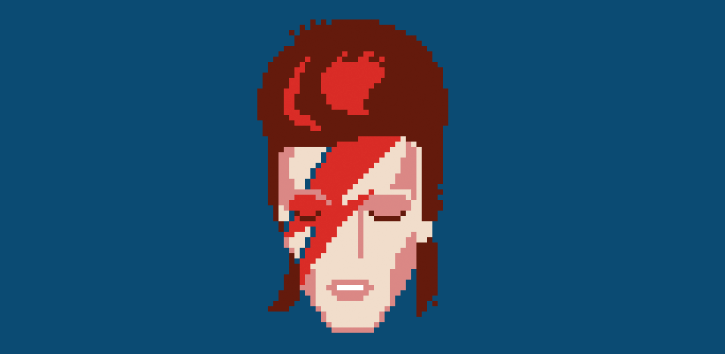 pixel david bowie shirt