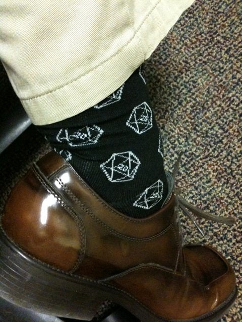 D20 Gamer Dice Socks