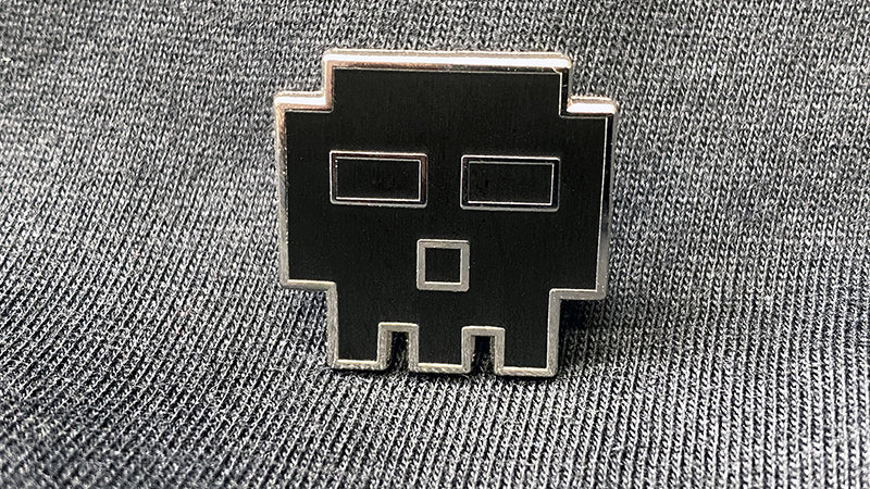 BLACK EDITION Pixel Skull Pin