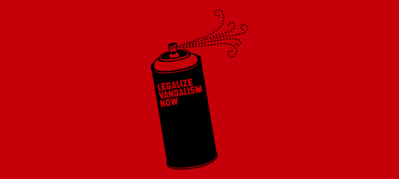 LEGALIZE VANDALISM NOW Shirt (red)