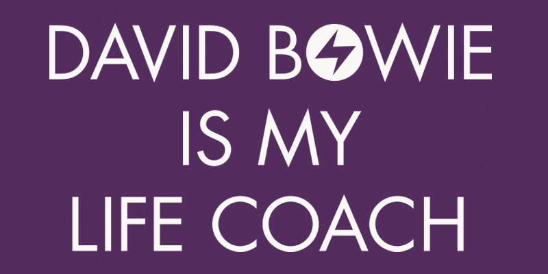 David Bowie Is My Life Coach Shirt (Purple)