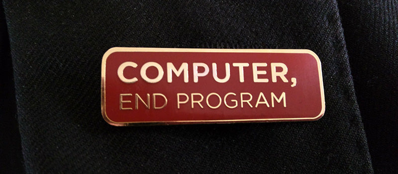 """Computer, End Program"" Enamel Pin"