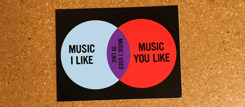Diesel Sweeties Store Music Elitism Venn Diagram Stickers