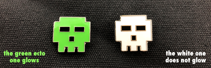 ECTO MONSTER Pixel Skull Pin
