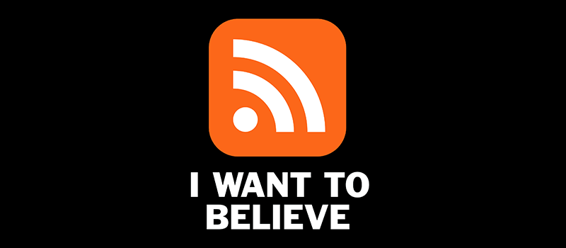 I WANT TO BELIEVE in RSS Shirt