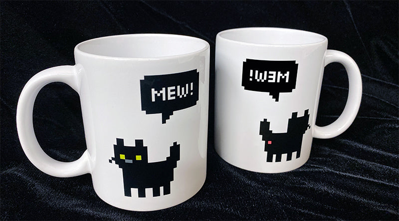 Mew! Reversible Kitty Butt Coffee Mug