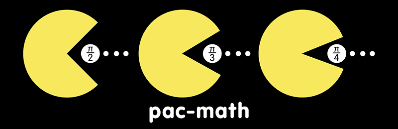 Pac-Math Bumper Stickers