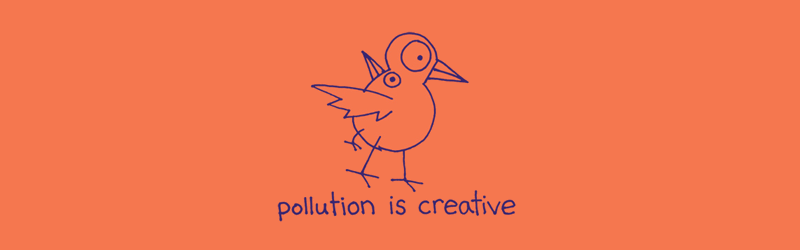 Pollution is Creative shirt (Coral)