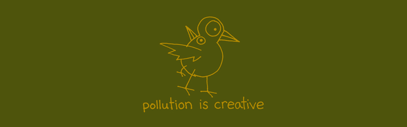 Pollution is Creative shirt (Olive)