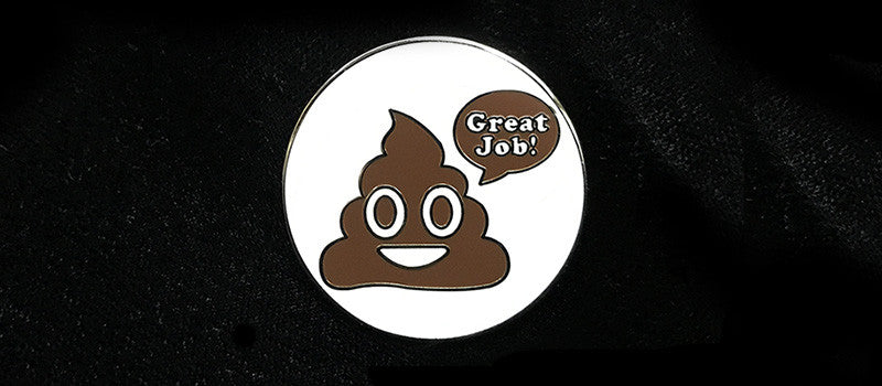 Great Job! Poop Emoji Enamel Pin