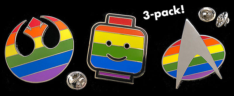 Triple Rainbow Pin Pack