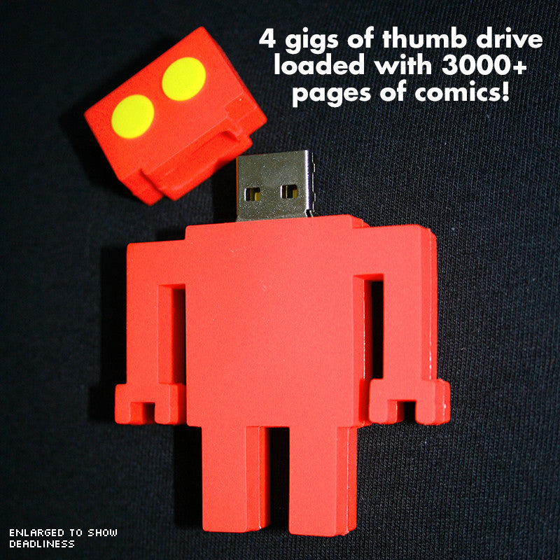 Diesel Sweeties 3000: Red Robot Thumb Drive