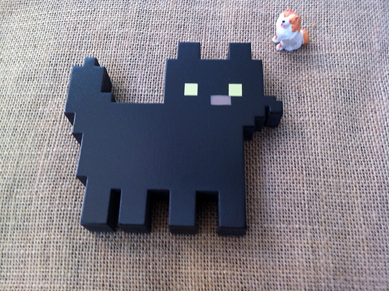 Wooden Pixel Kittens