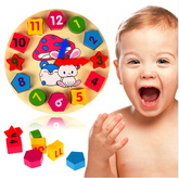 Colorful Numbers & Shapes Clock