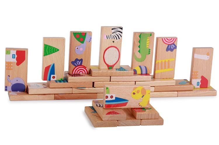 28PCS wooden animals and things puzzle
