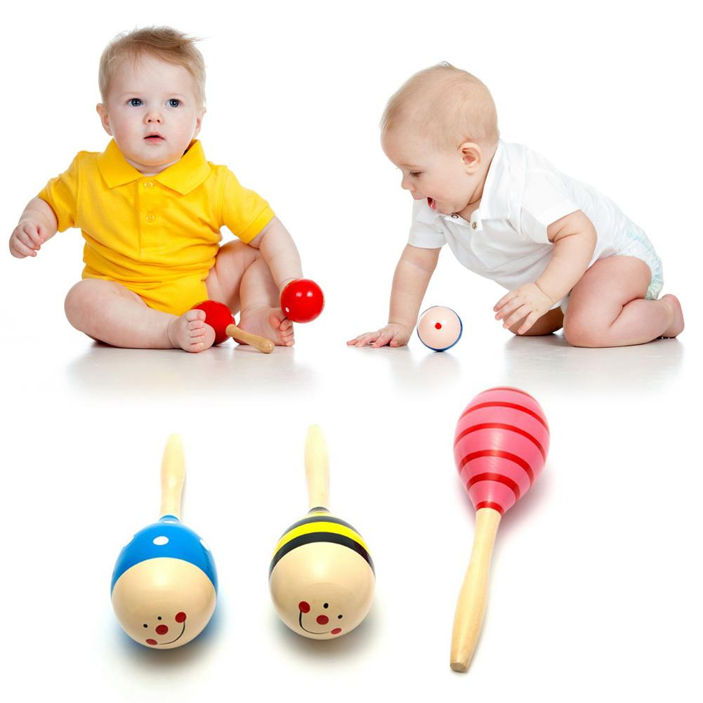 Colorful Wooden Maracas Ball