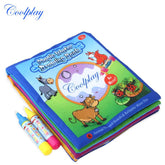 ANIMALS WATER DRAWING BOOK WITH 2 MAGIC PEN FOR KIDS