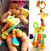 Baby Soft Giraffe Animal Handbells