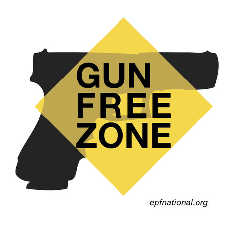 Gun Free Zone bumper sticker