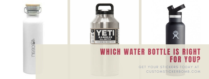 How to find the perfect sized water bottle, we like the hot or cold stainless steel water bottles.