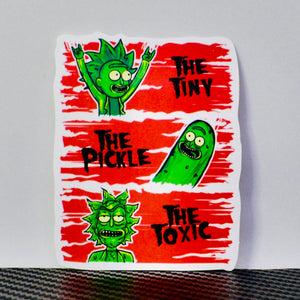 Tiny Rick, Pickle Rick, Toxic Rick Fan Art