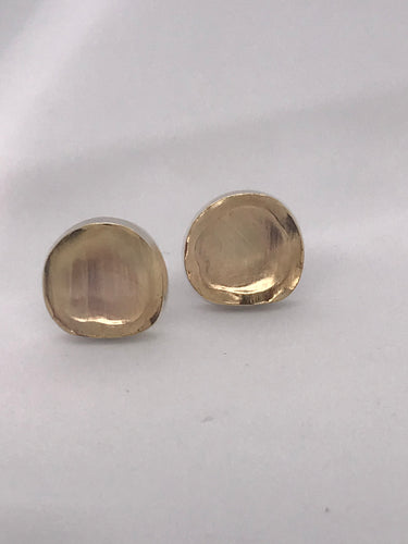 gold and sterling studs
