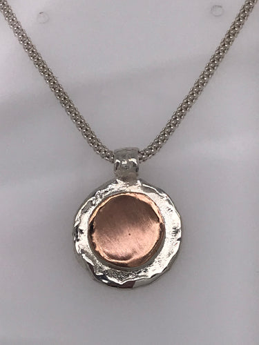 rose gold fill and sterling necklet