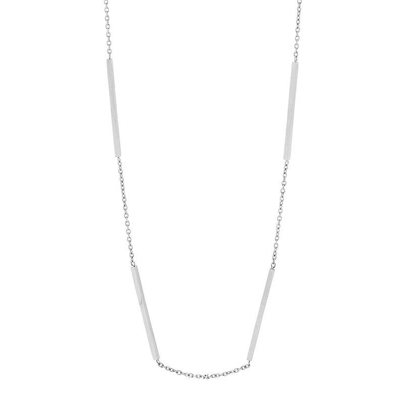 Stainless Steel 42cm necklace w/ 4 bars