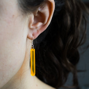 Neon Acrylic Bar Earrings