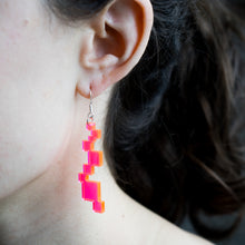 Neon Acrylic Pixel Earrings