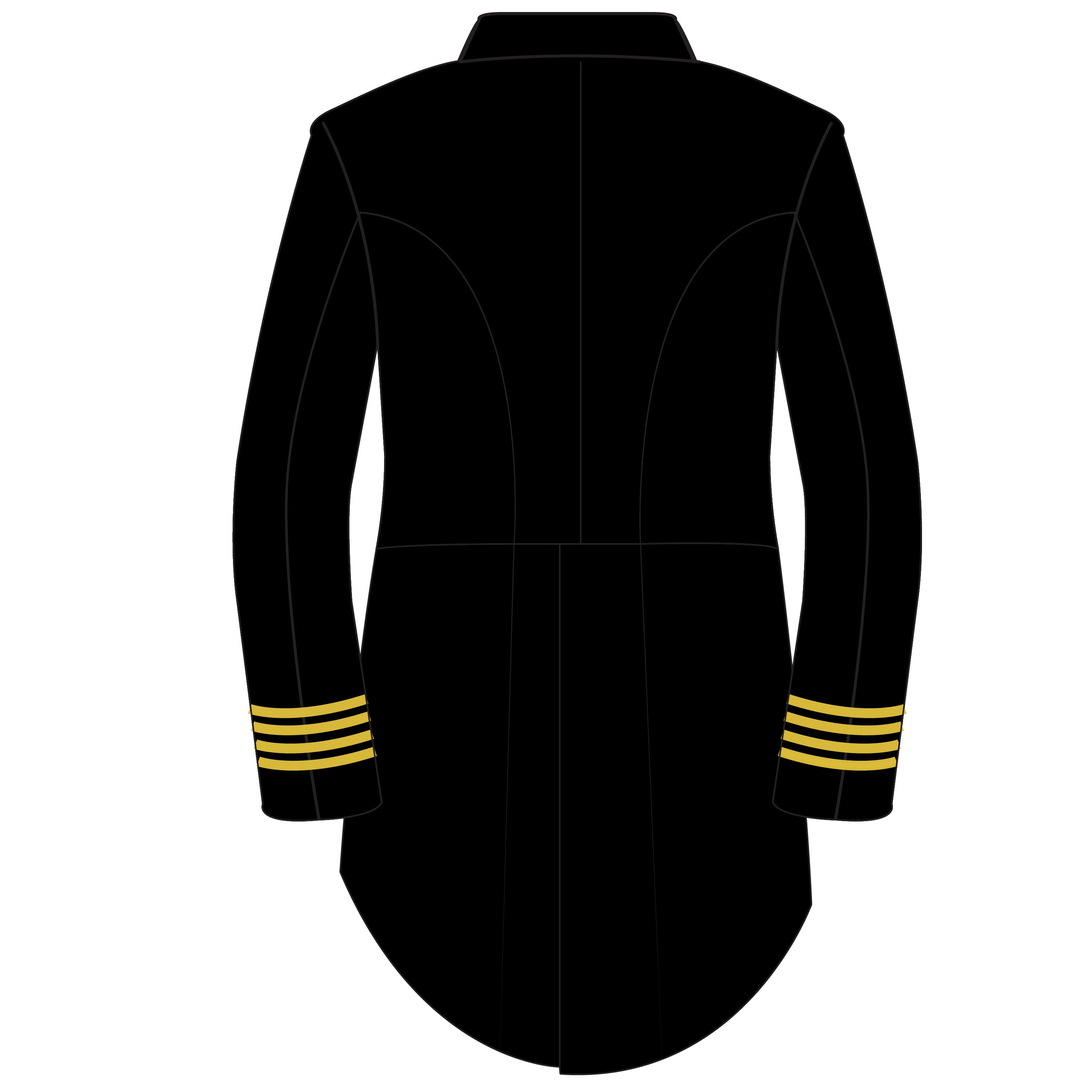 NO. 2 MESS STANDARD:  NAVY - TAILCOAT - MALE