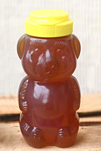 12oz Squeeze Bear Dancing Bee Raw Unfiltered Local Honey