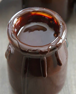 4oz Glass Jar Dancing Bee Raw Unfiltered Double Dark Chocolate Mountain Honey