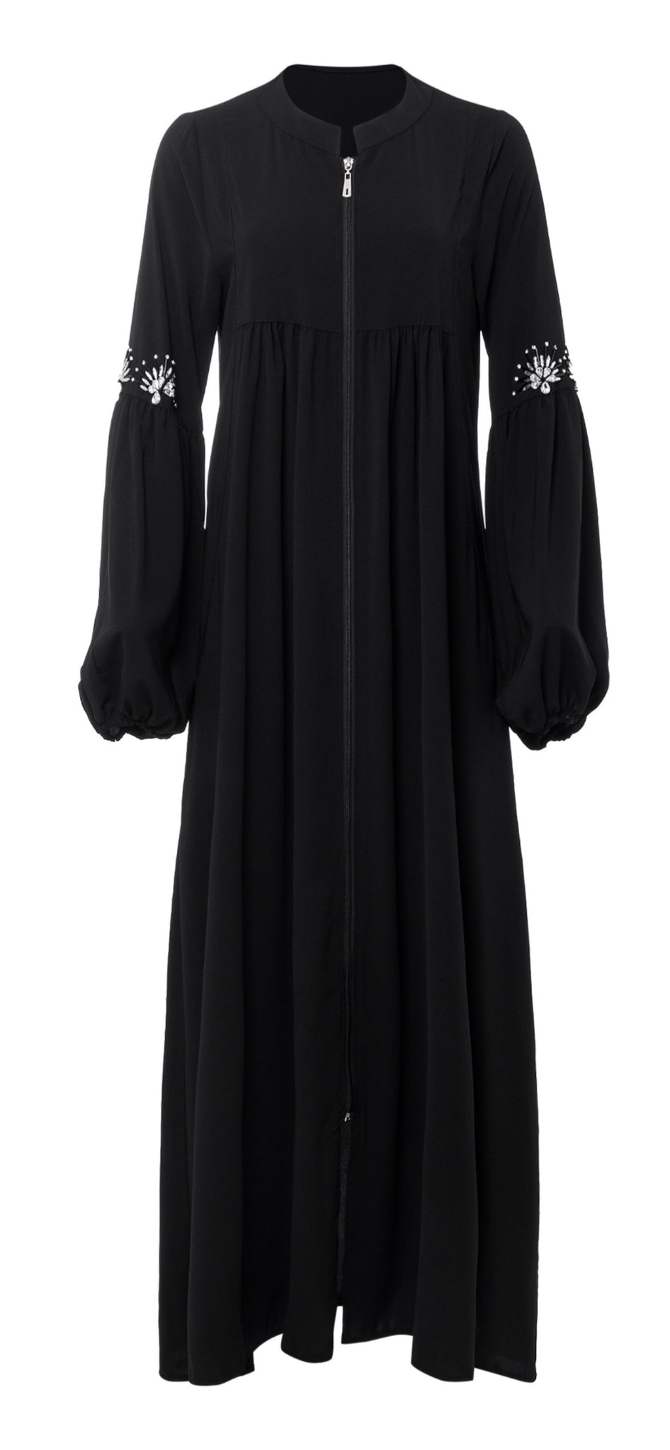 Black Gemstone Abaya