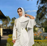 Tahar White Pearl Dress