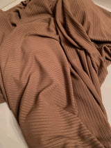 Brown Ribbed Jersey